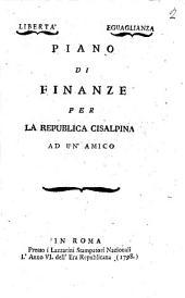 Piano di finanze per la Repubblica cisalpina ad un'amico