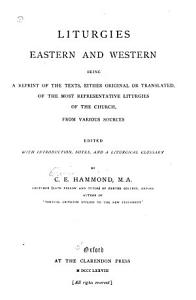 Liturgies  Eastern and Western Book