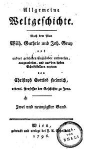 Allgemeine Weltgeschichte: Band 92