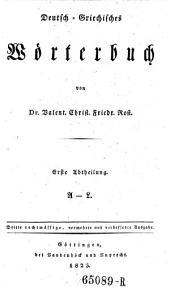 Deutsch-Griechisches Wörterbuch: Band 1