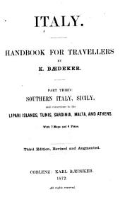 Italy: Handbook for Travellers, Volume 3