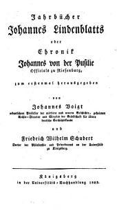 Jahrbücher oder Chronik Johannes von Pusilie, Offizials zu Riesenburg
