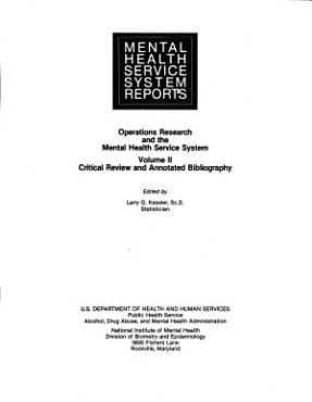 Operations Research and the Mental Health Service System PDF
