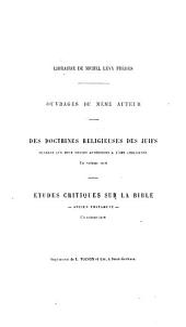 Essais de philosophie et d'histoire religieuse