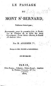 ¬Le passage du Mont St. Bernard