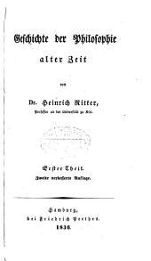 Geschichte der Philosophie: Band 1