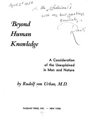 Beyond Human Knowledge