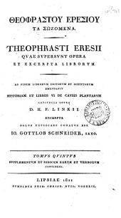 Theophrasti Eresii quae supersunt opera: et excerpta librorum, Volume 5