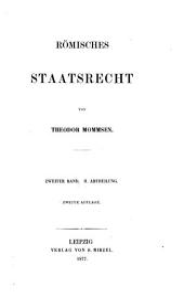 Römisches Staatsrecht: Band 3