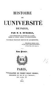 Histoire de l'Université [of Paris] depuis son origine