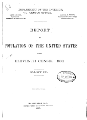 Census Reports Eleventh Census: 1890: Population. 2 v