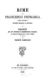 Rime di Francesco Petrarca sopra argomenti storici morali e diversi