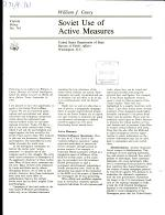 Soviet Use of Active Measures