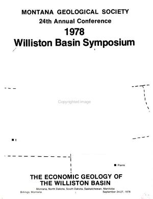 The Economic Geology of the Williston Basin  Montana  North Dakota  South Dakota  Saskatchewan  Manitoba PDF