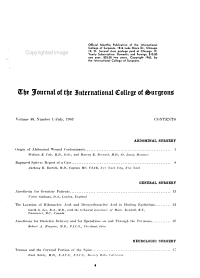 The Journal of the International College of Surgeons PDF