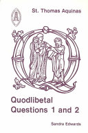 Download Quodlibetal questions 1 and 2 Book