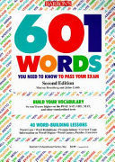 601 Words You Need to Know to Pass Your Exam PDF