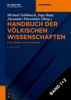 Handbuch der v  lkischen Wissenschaften PDF