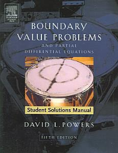 Boundary Value Problems and Partial Differential Equations PDF