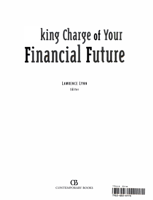 Taking Charge of Your Financial Future PDF