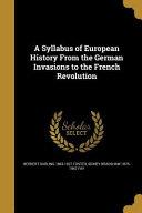 SYLLABUS OF EUROPEAN HIST FROM PDF