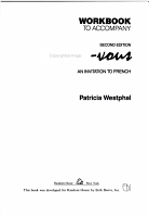 Workbook to Accompany Rendez vous PDF