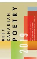 Best Canadian Poetry 2019 PDF