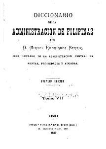 Diccionario de la administracion de Filipinas PDF