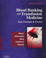 Blood Banking and Transfusion Medicine PDF