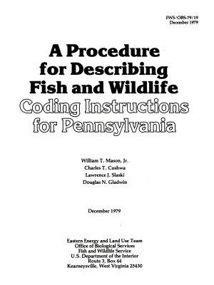 A Procedure for Describing Fish and Wildlife PDF