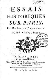 Essais historiques sur Paris