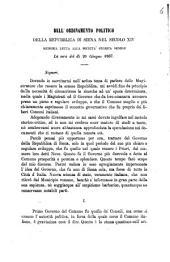 Dell'ordinamento politico della Repubblica di Siena nel secolo 14: memoria letta alla Società storica senese la sera del 20 giugno 1867, dell'Ufficio del potestà nella Repubblica di Siena