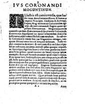 Assertio juris Moguntini in coronandis regibus romanorum