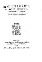 Commentarius in septem Pandectarum Titulos. Ejusdem ad librum 4 Institutionum notae. Ejusd. ad Ulpiani tit. 29 notae