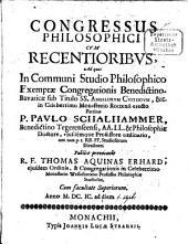 Congressus philosophici cum recentioribus