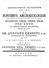 De fontibus archaeologiae