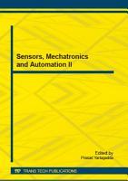 Sensors  Mechatronics and Automation II PDF