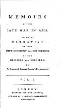 Memoirs of the Late War in Asia PDF
