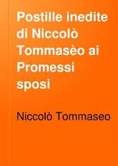 Postille inedite di Niccolò Tommasèo ai Promessi sposi