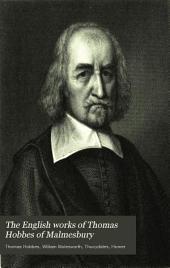 The English Works of Thomas Hobbes of Malmesbury: Volume 11