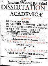 De imperio maris, de centum lapidibus ...