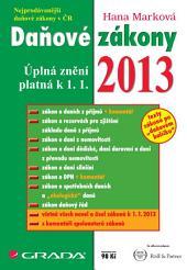 Daňové zákony 2013: úplná znění platná k 1. 1. 2013
