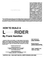 How to Build a Lowrider PDF