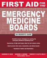 First Aid for the Emergency Medicine Boards PDF