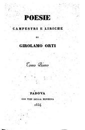 Poesie campestri e liriche di Girolamo Orti