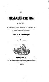 Des machines à vapeur, etc