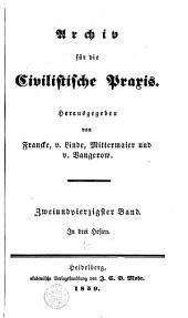 Archiv für die civilistische Praxis: Band 42