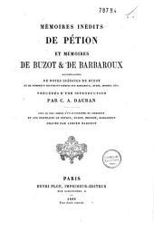 Mémoires inédits de Pétion: et: Mémoires de Buzot et de Barbaroux
