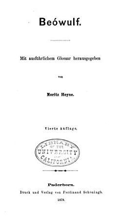Beowulf  Mit ausfurhlichem glossar PDF