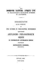 De dorismi natura atque usu in tragoediarum graecarum diverbiis et anapaestis: Diss. inaug